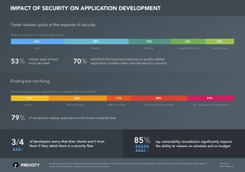 Impact of Security on Application Development Survey by Prevoty (Graphic: Business Wire)