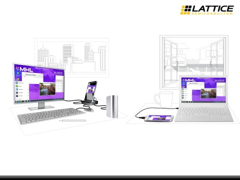 Lattice's solutions can deliver and receive 4K 60fps over a single lane, enabling a PC experience with USB Type-C devices. (Graphic: Business Wire)
