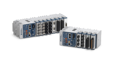 The new 4-slot and 8-slot CompactDAQ Controllers feature Intel Atom quad-core 1.91 GHz E3845 processors that can run either Windows Embedded 7 or NI Linux Real-Time, and include 32 GB of nonvolatile storage and removable SD storage. (Photo: Business Wire)