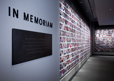 The National September 11 Memorial & Museum includes digital historical and memorial exhibitions, including artifacts, video footage, photographs and recordings of first-person testimonials drawing more than 10,000 visitors a day. Accenture developed the leading-edge technology infrastructure supporting the exhibits. Photo credit Jin Lee, 9/11 Memorial
