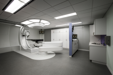 The MEVION S250 at Ackerman Cancer Center is treating patients at a rate of 350 per year, comparable to the number being treated at four-room systems. (Photo: Business Wire)