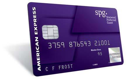 Purple is the new red. Starwood Preferred Guest(R) (SPG(R)) and American Express introduce a chic new design and color on their popular cobrand card to accompany the new benefits set to roll out on August 11. (Photo: Business Wire)