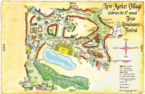 Texas Renaissance Festival releases festival season map for a sneak peek at What's New in 2015. (Graphic: Business Wire)