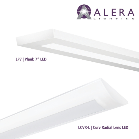 Alera Lighting introduces the Plank and Curv Radial Lens (Photo: Business Wire)