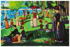 """Hasbro Inc. and its DOHVINCI brand have recreated six famous works of art in honor of Art Appreciation Month this August, including a detailed DOHVINCI version of the """"A Sunday Afternoon on the Island of La Grande Jatte"""" painting by Georges Seurat. More than 250 DOHVINCI deco pops were used to recreate the pointillism in this classic painting! To see the other DOHVINCI masterpieces, visit Facebook.com/PlayDoh (Photo: Business Wire)"""