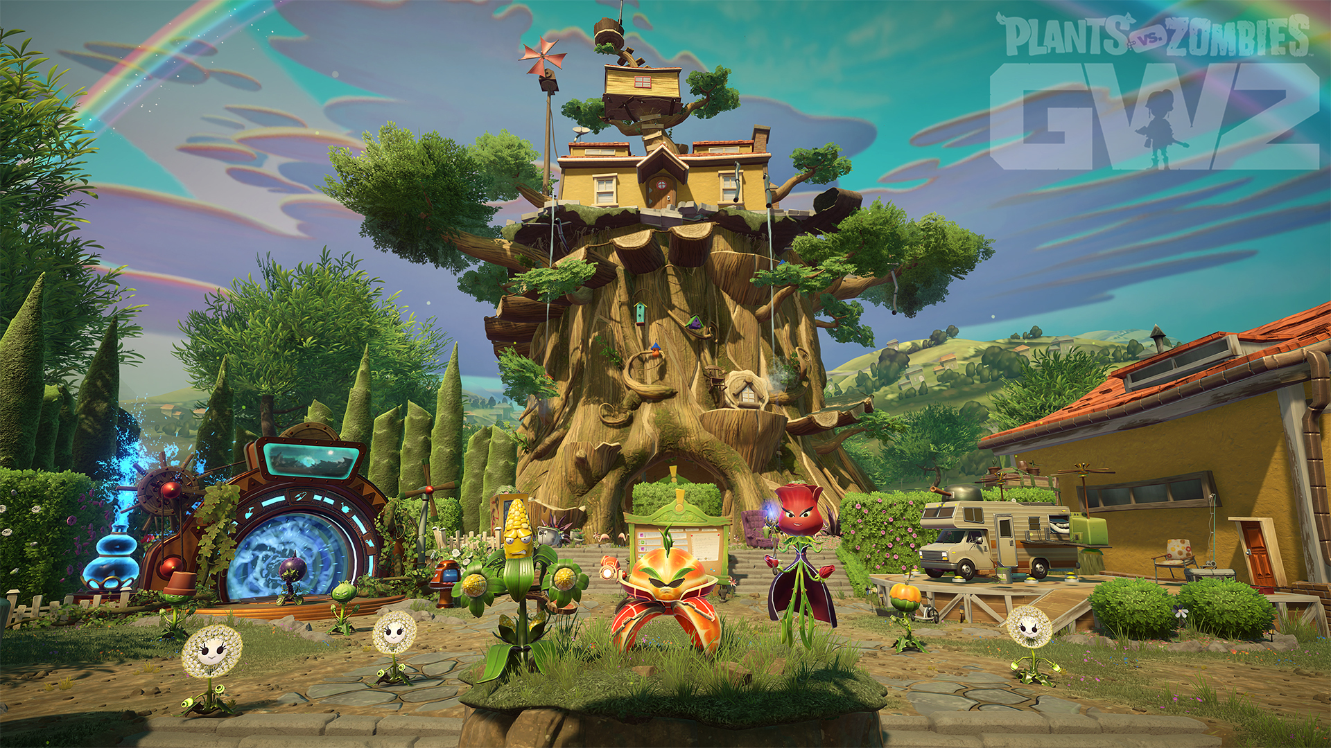 Plants Vs. Zombies Garden Warfare 2 Introduces More Ways To Play With New  Backyard Battleground | Business Wire