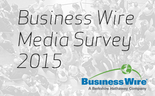 Business Wire 2015 Worldwide Media Survey (Graphic: Business Wire)