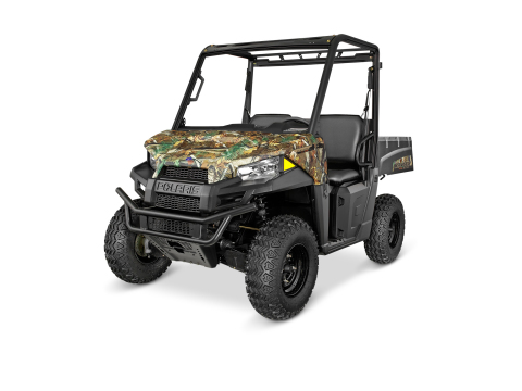 A first in the off-road industry, the RANGER EV Li-Ion Polaris Pursuit Camo offers more than three t ...