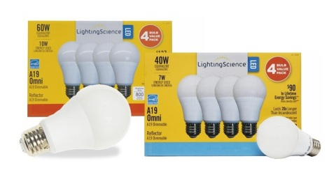 Lighting Science A19 Energy Star Rated Value 4-Pack. (Photo: Business Wire)