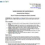 Q1 FY16 Text and Financials