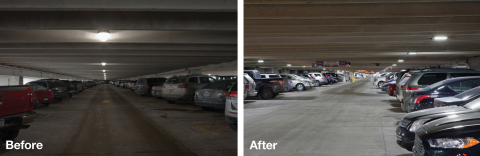 Upgrading with Eaton's LED parking garage lights is helping the Detroit Metropolitan Airport (DTW) save approximately $1.2 million annually in energy and maintenance costs. (Photo: Business Wire)