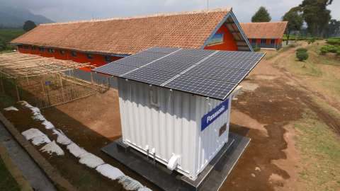 Installed Power Supply Container (Photo: Business Wire)