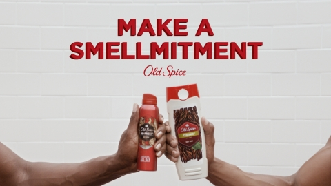 "Legendary Old Spice guys Terry Crews and Isaiah Mustafa come together for the first time to help guys make a ""Smellmitment"" to choose their favorite Old Spice scent. (Photo: Business Wire)"
