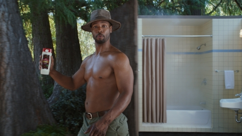 Old Spice Guy Isaiah Mustafa Urges Guys to Make a Smellmitment to Old Spice Timber Scent. (Photo: Business Wire)
