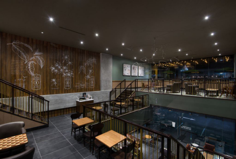 Starbucks today opened its first store in Panama, its 15th market in Latin America. Located in Panama City's Street Mall, the 3,304 sq. ft. space is a celebration of Starbucks coffee journey, from its first location in Seattle's Pike Place Market to Panama's Volcán Chiriquí Valley. (Photo: Business Wire)