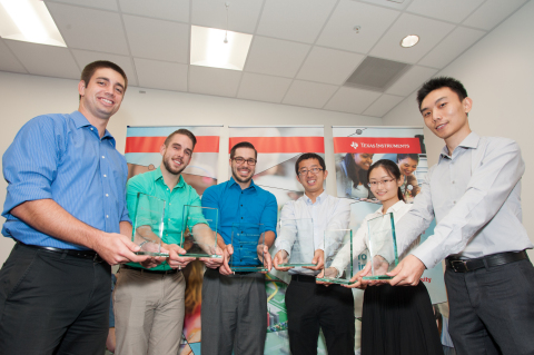 Pictured are the 2015 winners of the Texas Instruments Innovation Challenge North America Design Con ...