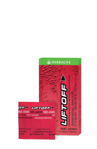 Herbalife's Liftoff® Pomegranate-Berry Burst Effervescent Supplement (Photo: Business Wire)