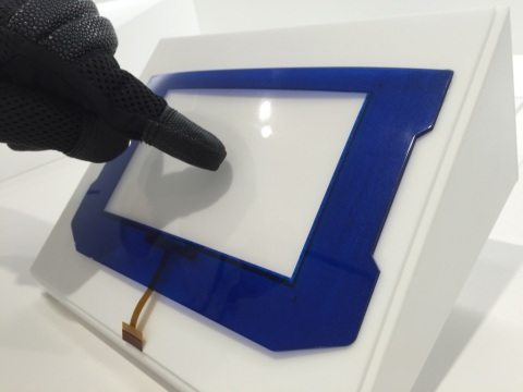 Highly Sensitive Curved Touch Panel (Photo: Business Wire)
