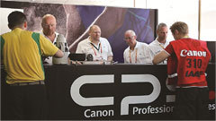 The Canon camera service center at IAAF World Championships Moscow 2013 (Photo: Business Wire)