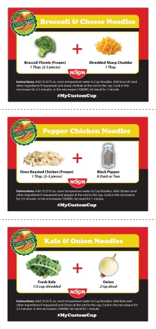Nissin Cup Noodles Recipe Cards (Graphic: Business Wire)