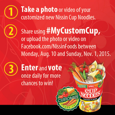 How to Enter the Nissin Customize Your Cup Contest (Graphic: Business Wire)