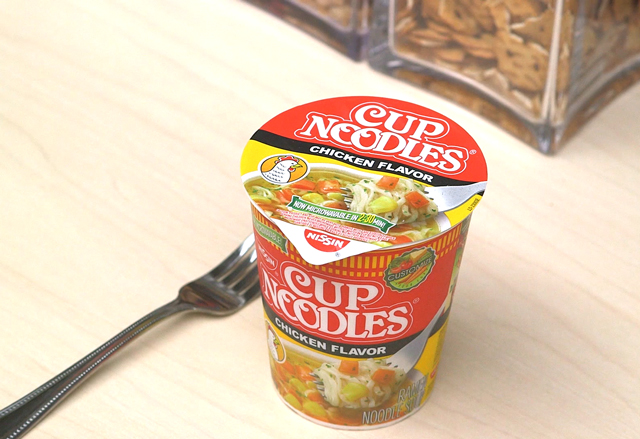 Make a Nissin Cup Noodles