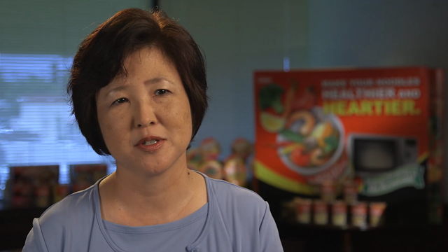 Linda Chung, Marketing Executive, Nissin, and Diane Elder, Food Stylist, talk about Nissin Cup Noodles