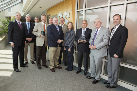 Eastman presents Airgas with awards at Airgas' headquarters in Radnor, PA on August 6. (Photo: Business Wire)