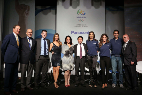 Beach volleyball duo Juliana Silva (photo: fourth from right) and Maria Elisa Antonelli (third from ...