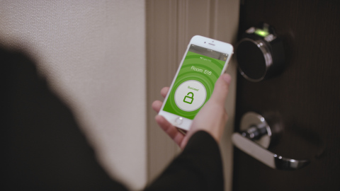 Digital Key, an all-new feature of the Hilton HHonors app, gives frequent guests the option to bypass the hotel check-in counter and access their rooms, as well as any other area of the hotel that requires a key, directly via their smartphones. (Photo: Business Wire)