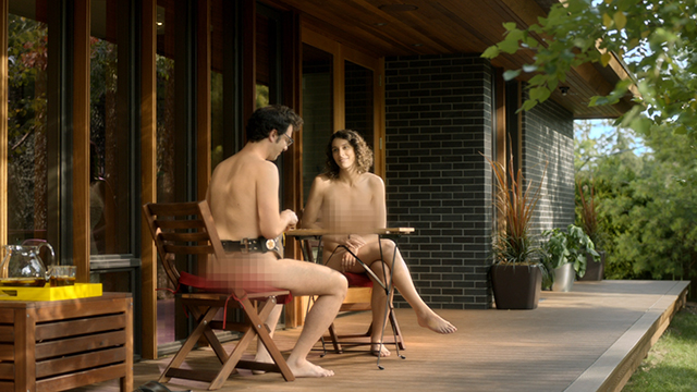 Everyone loves a lazy weekend afternoon outside on their private deck -and this couple has a tradition of their own, clothing optional. For more information, visit www.trulia.com/trulihome