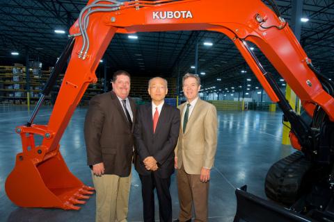 Mayor of Edgerton Donald Roberts, Kubota Tractor Corp. President & CEO Masato Yoshikawa, and Gov. of ...