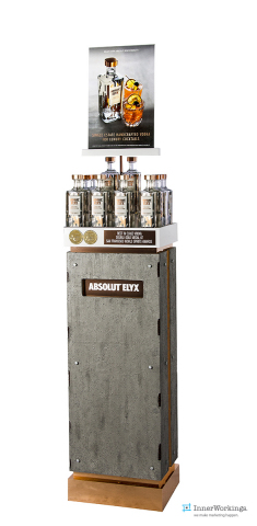 InnerWorkings' Absolut Elyx display won POPAI's 2015 Gold Medal. (Photo: Business Wire)