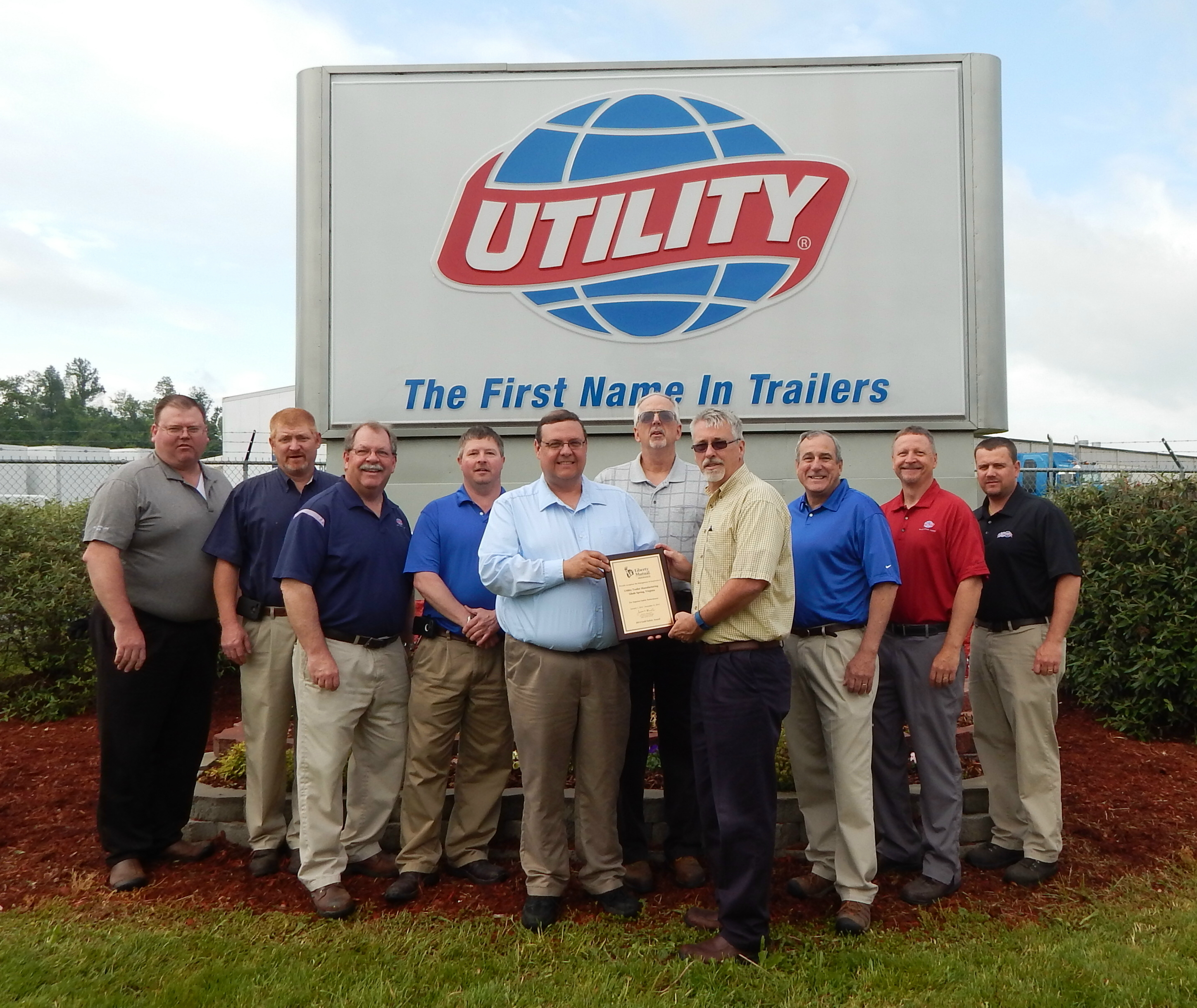 Utilitys Glade Spring Virginia Manufacturing Plant Receives Gold How To Wire Utility Trailer Safety Award Business