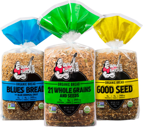Dave's Killer Bread is the best-selling organic sliced bread in the U.S., with 17 varieties of whole grain organic bakery products and widespread distribution across the U.S. and Canada. (Photo: Business Wire)
