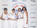Barbara Musella, Center Manager, Bob Hope Hollywood USA at LAX; Rear Admiral Sandra E. Adams, Deputy Commander, Navy Commander, Navy Expeditionary Combat Command; Peg Billson, President & CEO Aftermarket Services, BBA Aviation; Kathleen Boyle, CEO, Verify, Inc. (Photo: Business Wire)