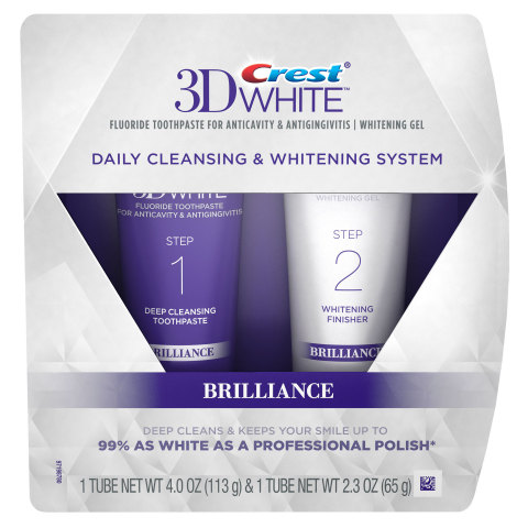 Crest launched the new Crest 3D White® Brilliance 2 Step Cleansing and Whitening system. The new too ...