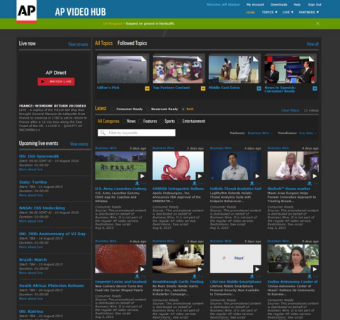 Business Wire's video content is now available on AP Video Hub, a state-of-the-art online delivery p ...