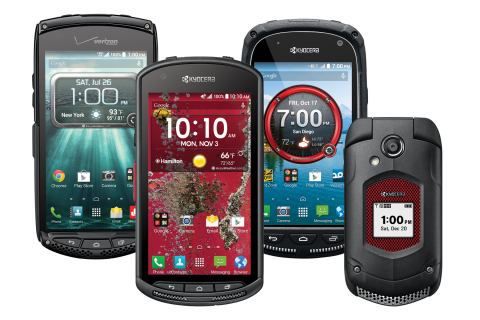 The introduction of rugged, affordable smartphones like Kyocera's DuraForce, Brigadier and TorqueXT, along with its Dura Series feature phones, is helping many companies reduce the overall total cost of ownership and ensure the productivity of their workforces. (Photo: Business Wire)