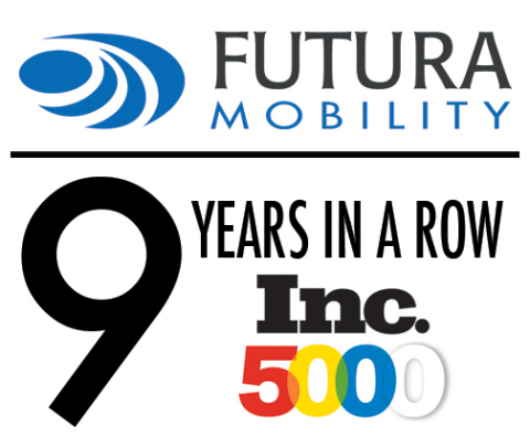 Futura Mobility named to Inc. 5000 List of fastest growing companies for 9 consecutive years. (Graphic: Business Wire)