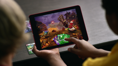 In Skylanders Battlecast, players can scan cards with their mobile devices and watch them come to life. (Photo: Business Wire)