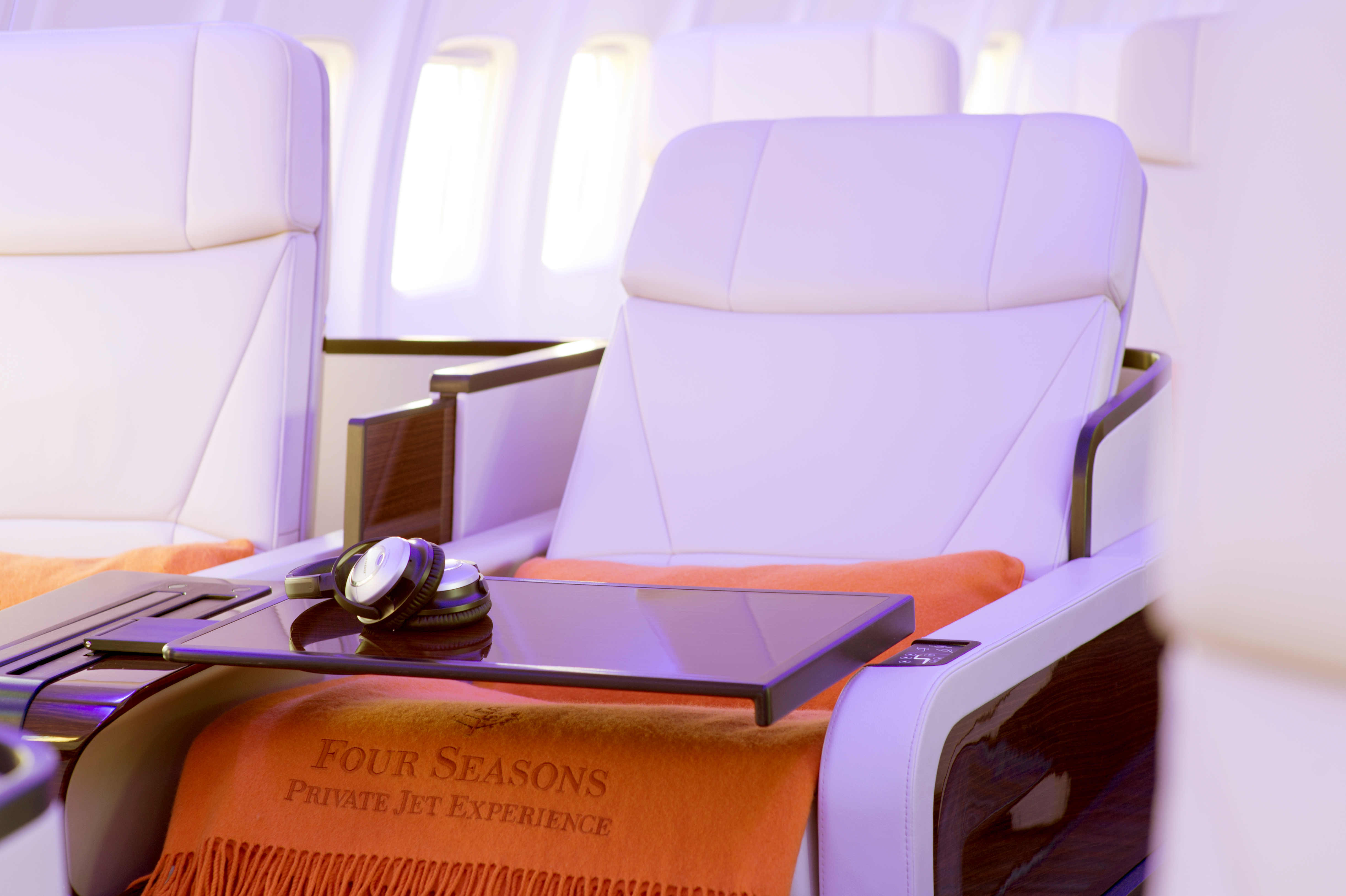 """TCS World Travel will offer exclusive access aboard the Four Seasons Private Jet on all of its """"Select Escapes"""" journeys around the world. The new Boeing 757 jet features a contemporary design and luxurious finishes. (Photo: Business Wire)"""