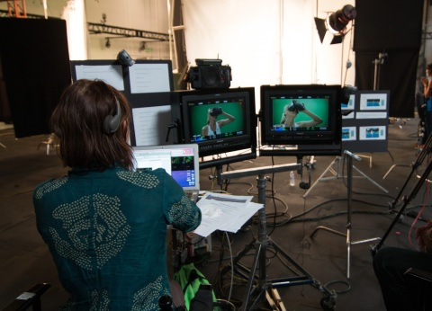 Maria Sharapova films 'You vs. Sharapova' experience. (Photo: Business Wire)