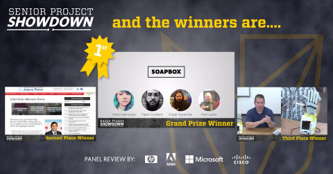 DeVry University today congratulates the finalists and winning team of its third annual Senior Project Showdown. (Graphic: Business Wire)