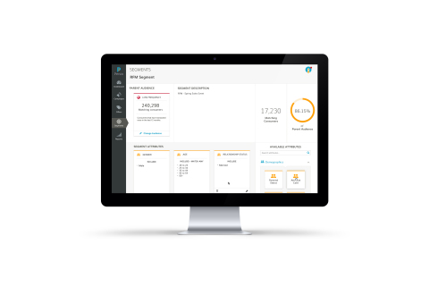 A screenshot of the segmentation capabilities on the Persio platform. (Photo: Business Wire)