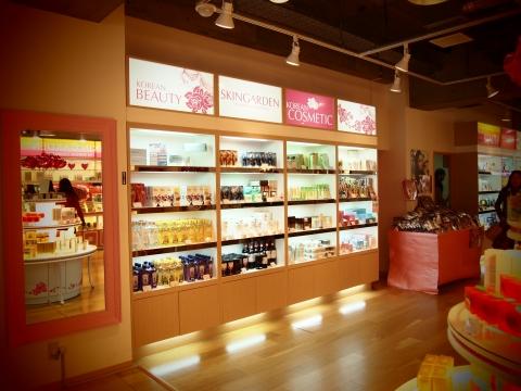 Korean cosmetics concept store in shinjuku skin garden for Scab design outlet