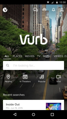 Vurb for the Android OS. (Photo: Business Wire)