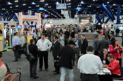 Energy executives, landmen, petroleum geologists, investors, financiers, lawyers and industry service providers arrive early, ready to explore the offerings on the Expo Floor. (Photo: Business Wire)