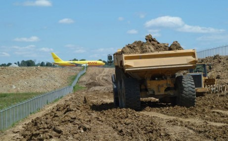 Construction begins on the North Ramp Expansion Project at DHL's Americas hub at Cincinnati/Northern Kentucky International Airport (CVG). (Photo: Business Wire)