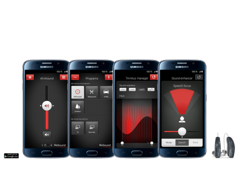 The ReSound Smart app is now compatible with additional Android devices, including the Samsung Galaxy S6. (Graphic: Business Wire)